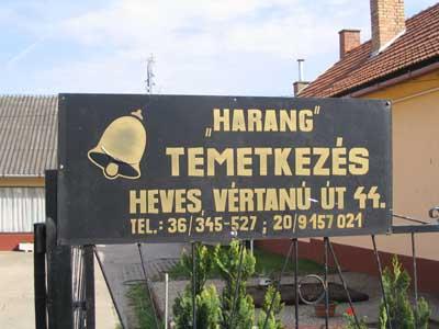 Harang 2004 Temetkezés Heves